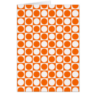 Orangefarbener Standard Karte