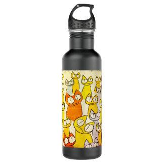 Orangen-Anstarrenlos Katzen Edelstahlflasche