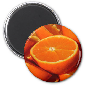 Orangen - geschnitten runder magnet 5,7 cm