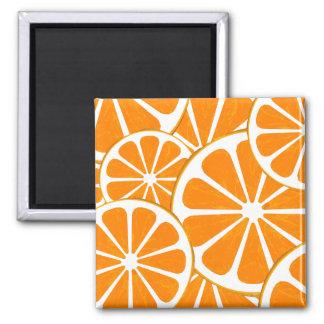 Orangen Quadratischer Magnet