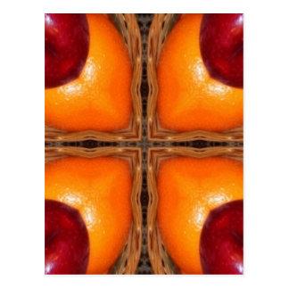 Orangen und Äpfel 1 Postkarten