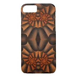 Orangen-und Browns abstrakter Spirale-Herbst in iPhone 8/7 Hülle