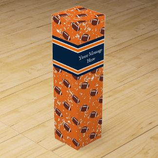 Orangen-und Marine-Blau-Fußball Weinbox