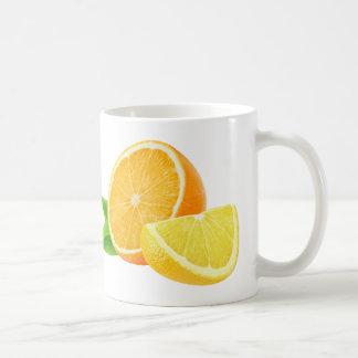 Orangen- und Zitronenstücke Kaffeetasse