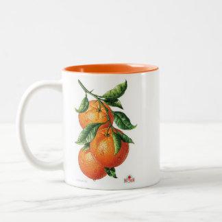 Orangen Zweifarbige Tasse