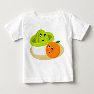 Orangensaft (Orange und Quetscher) Baby T-shirt