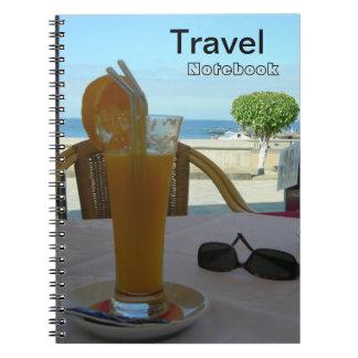 Orangensaft-Reise-Bestimmungsort-Notizbuch Spiral Notizblock