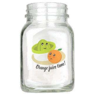Orangensaft-Zeit (Orange und Quetscher) Einmachglas