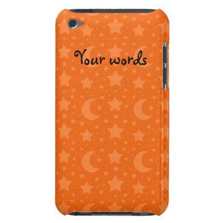 Orangenstern- und -mondmuster barely there iPod case