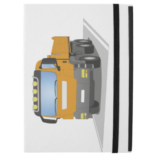 oranger Baustellen LKW