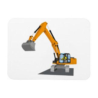 oranger Kettenbagger Magnet