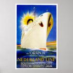 Oranje ~ Nederland Linie Plakatdrucke