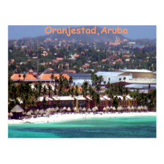 Oranjestad, Aruba im Aquarell Postkarte