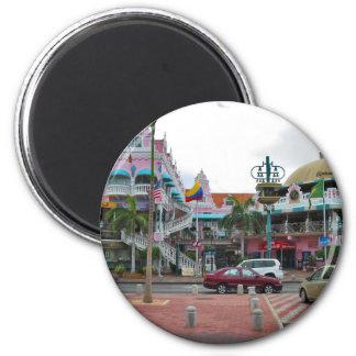 Oranjestad Aruba Runder Magnet 5,7 Cm