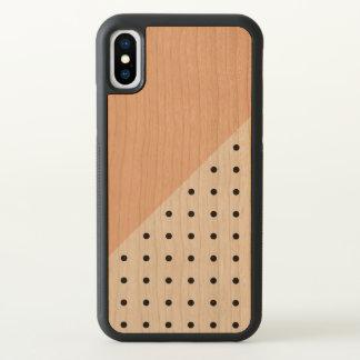 Orannge geometrisches Muster iPhone X Hülle
