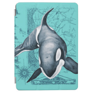 Orca-Karte aquamarin iPad Air Hülle