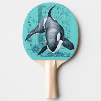 Orca-Karte aquamarin Tischtennis Schläger