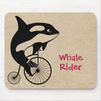 Orca-Mörder-Wal auf Vintagem Fahrrad Mousepad