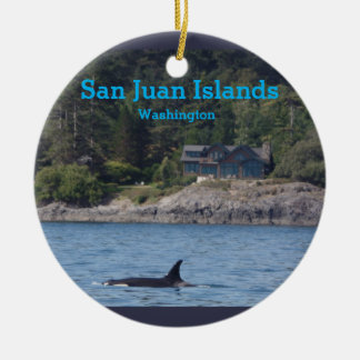 Orca-San- Juaninsel-Washington-Staats-Verzierung Rundes Keramik Ornament
