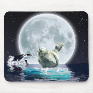 Orca, Siegel u. wilde Mond-Geschenk-Entwürfe Mousepad