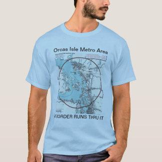 Orcas-Insel-Metro-Bereichs-T - Shirt
