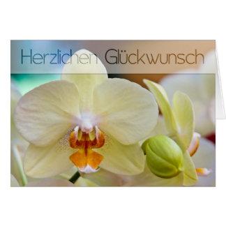 Orchidee • Geburtstagskarte Grußkarte