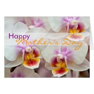 Orchidee • Glückliche Karte der Mutter Tages