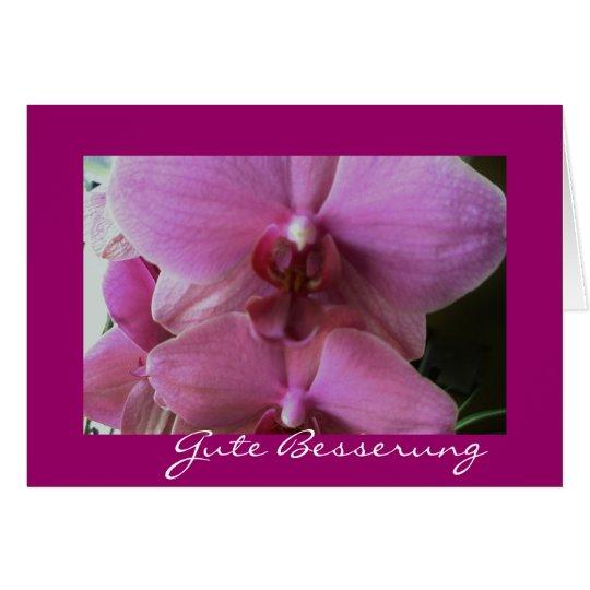Orchidee-gute besserung karte