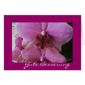 Orchidee-gute besserung mitteilungskarte