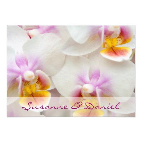 Orchidee • Hochzeitseinladung 12,7 X 17,8 Cm Einladungskarte