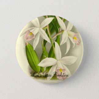 Orchidee - Laelia Anceps Runder Button 5,1 Cm