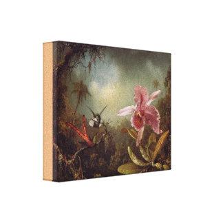 Orchidee mit zwei Kolibris durch Martin Heade Leinwanddruck