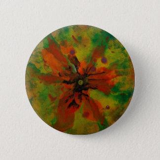 Orchidee Runder Button 5,1 Cm
