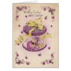 OrchideeCorsage 16. Geburtstag Karte