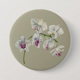 Orchideen-Aquarell-Malerei Runder Button 7,6 Cm
