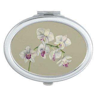 Orchideen-Aquarell-Malerei Taschenspiegel