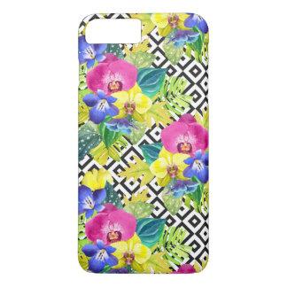 Orchideen-Begonie und Palmblätter iPhone 8 Plus/7 Plus Hülle