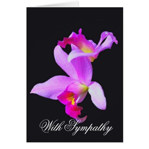 Orchideen-Beileids-Karte