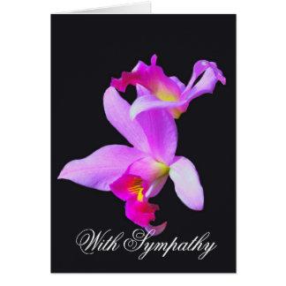 Orchideen-Beileids-Karte Grußkarte