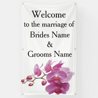Orchideen-billige Hochzeit verpackt Banner