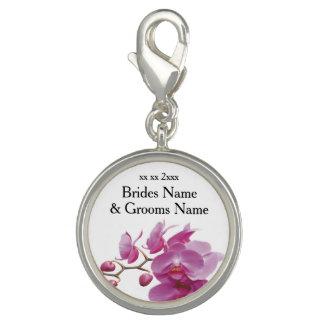 Orchideen-billige Hochzeit verpackt Charms