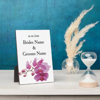 Orchideen-billige Hochzeit verpackt Fotoplatte