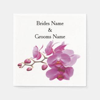 Orchideen-billige Hochzeit verpackt Papierserviette