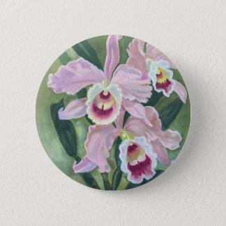 Orchideen-Blume Runder Button 5,1 Cm