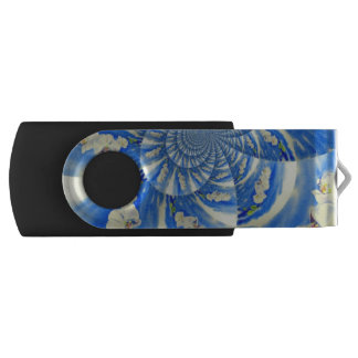 Orchideen-Brisen-Mandala USB Stick