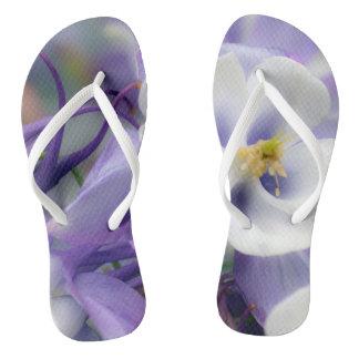 Orchideen-FarbBlumen Flip Flops