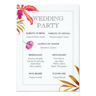 Orchideen-Garten-Hochzeits-Party-Karte Karte