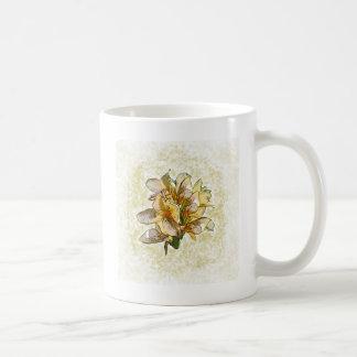 Orchideen geätzt kaffeetasse