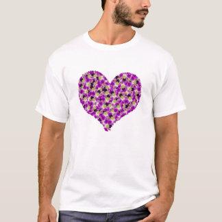 Orchideen-Herz-T - Shirt