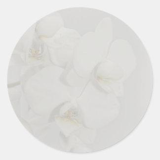 Orchideen-Hochzeits-Aufkleber Runder Aufkleber